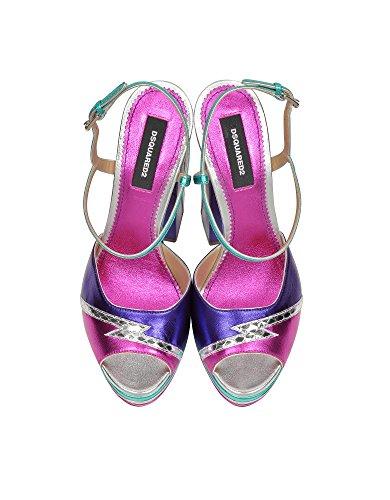 Charol Mujer Cuero De S17C5011213M037 Dsquared2 Multicolor Sandalias XxnwX6