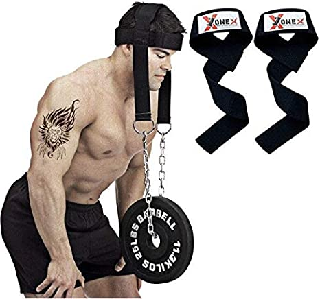 Head Neck herness Weight lifting head workout exercise training straps padded