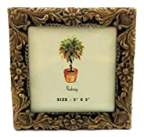 Small square picture frame with intricate floral designs around the entire frame PF53
