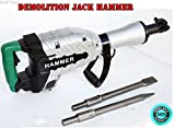 SKEMiDEX---HD Z1G45E ELECTRIC DEMOLITION JACK HAMMER CONCRETE BREAKER 1500 Watts. Needed For This Hammer! Heavy Duty Breaking Power From 120V Power Source. Shock Mounted Handles Absorbs Vibration