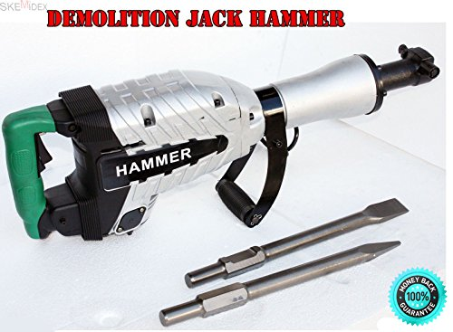 SKEMiDEX---HD Z1G45E ELECTRIC DEMOLITION JACK HAMMER CONCRETE BREAKER 1500 Watts. Needed For This Hammer! Heavy Duty Breaking Power From 120V Power Source. Shock Mounted Handles Absorbs Vibration by SKEMiDEX