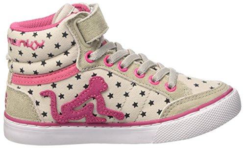 DrunknMunky Boston Sky, Zapatillas de Tenis para Niñas Grigio (Grey/Pink)