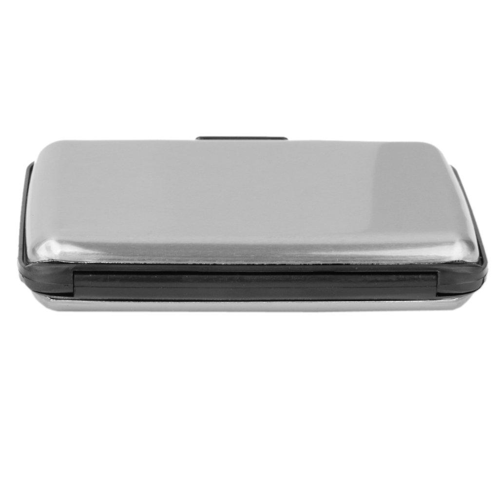 gris Mini Caja Carcasa de Tarjeta Cr/édito Identificaci/ón Met/álica de Aluminio Resistente al Agua