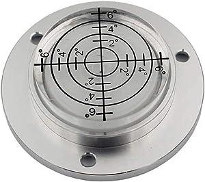 XMLEI Aluminum Alloy universal level Mini Level Round Bubble Spirit Level Diameter 50mm Height 11.5mm(1PCS) (white)