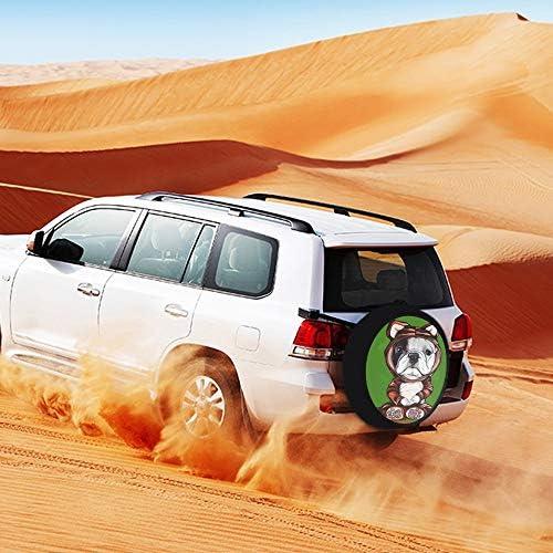 SUVタイヤカバー スペアタイヤカバー フレンチブルドッグ タイヤ収納 カー用品 背面カバー 保管カバーパークレザー 雨よけカバー 背面スペアカバー 軽自動車 適用車 防水 簡単装着 車用15inch 17inch