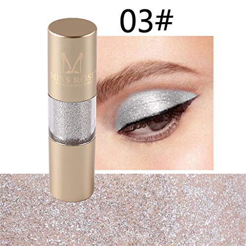 Makeup Eyeshadow - Glitter Liquid Eyeliner 8 Colors, Glitter Eyeshadow, Eye Art Lid, Waterproof Sparkling Eyeliner for Christmas Parties, Cosplay, Masquerade (C) ()