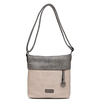 Tasche Damentasche Handtasche  Schultertasche bags woman mittelgross beige