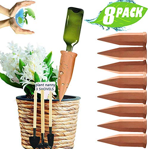Terra Cotta Water - JollyAndVector Plant Watering Stakes Terracotta Self Watering Devices Vacation Plant Waterer Automatic Watering Spikes for Indoor Outdoor 8 Pack Set(8)