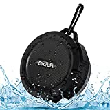 Portable Outdoor and Shower Speaker - Skiva AudioFlow Splashproof Water-resistant Loud (5W) Bluetooth Wireless Speaker (High Fidelity Sound, Built-in Microphone) for iPhone, Samsung, HTC [Model:SP105]