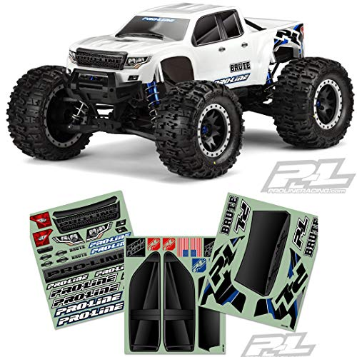 Pro-line Racing Pre-Cut Brute Bash Armor Body (White) for X-MAXX, PRO351317 Decals Pro Line Racing
