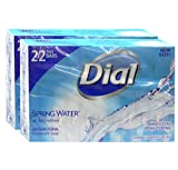 Dial All Day Freshness Spring Water Bar Soap, 4 ounces 22 Bar