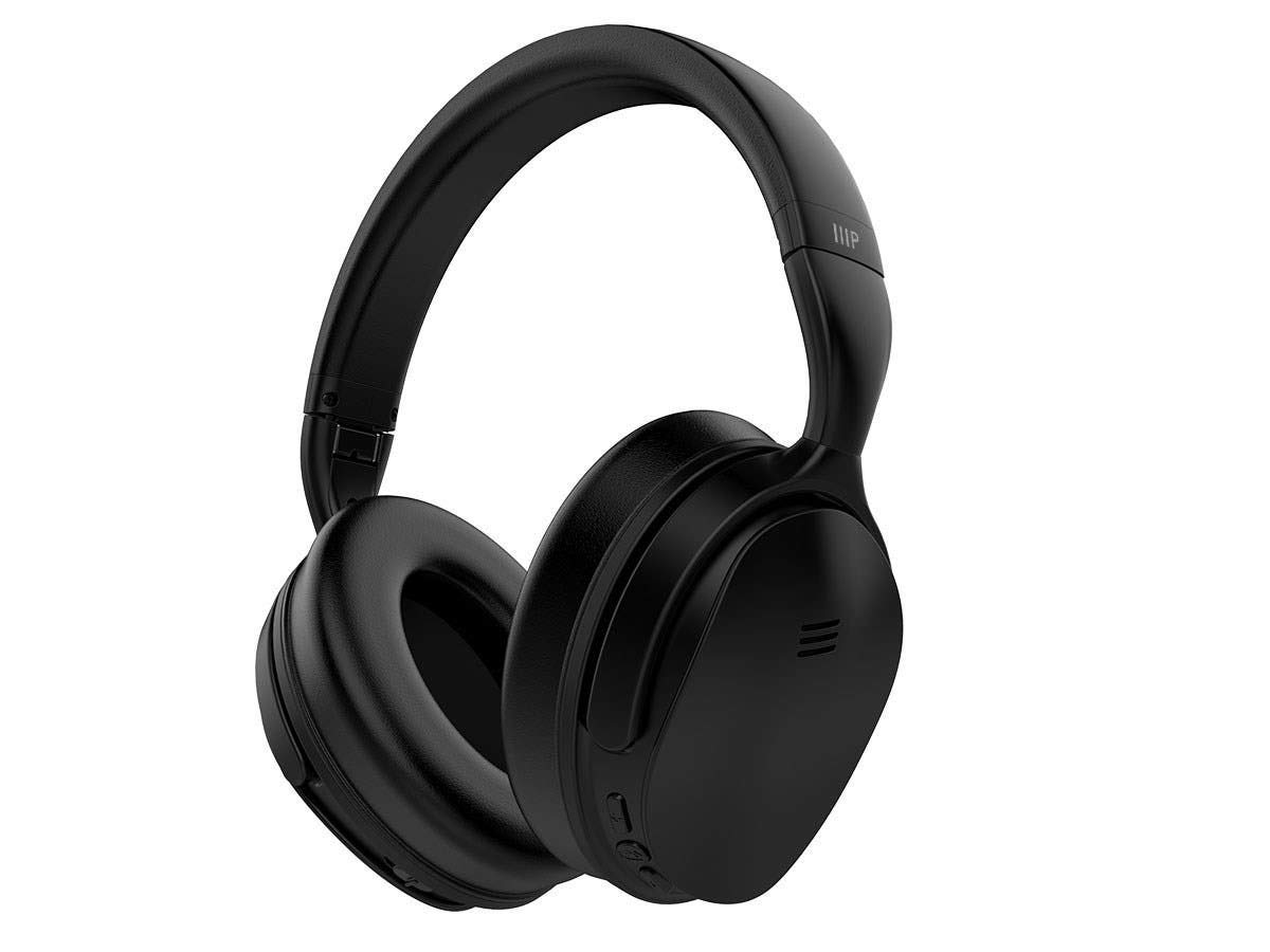 Monoprice BT-300ANC Wireless Over Ear Headphones - Black with (ANC) Active Noise Cancelling, Bluetooth, Extended Playtime by Monoprice