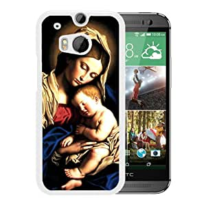 Unique And Popular HTC ONE M8 Case ,catholic art White HTC ONE M8 Screen Cover Beautiful Designed
