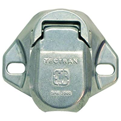 Tectran 670-28 Vertical Dual Pole Plug (Socket Tarp Systems Connector, Vertical socket assembly with 4 6 gauge terminals included): Automotive