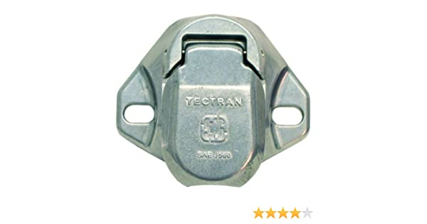 Tectran 670-29SG Vertical Dual Pole Plug Socket Tarp Systems Connector, Vertical plug assembly with spring guard Screw Termination
