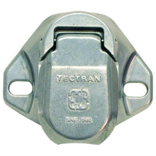 Tectran 670-28 Dual Pole Plug & Socket Tarp Systems Connector, Vertical Socket Assembly with 4 & 6 Gauge terminals Included