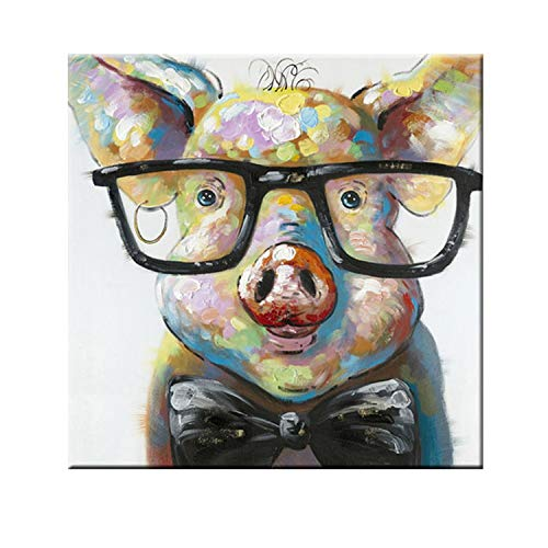 three thousand Funny Wall Art Animal Canvas Art Oil Painting Pop Art Flower Wall Pictures for Living Room Home Decor Poster Printed Art,75x75cm unframe,mk428-3