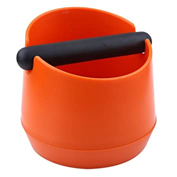 VBESTLIFE Café Knock Caja de Plástico Recipiente para Posos de Café Separación Basura de la Maquina Café Fácil de Limpiar(amarillo): Amazon.es: Hogar