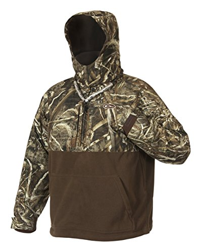 Drake MST Eqwader Deluxe 1/4 Zip with Hood  Realtree Max-5 Jacket, X-Large