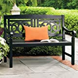 Amalfi Outdoor Bench – Solid Black – Grandin Road