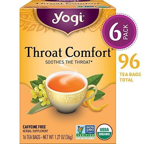 Yogi Tea - Throat Comfort - Soothes the Throat - 6 Pack, 96 Tea Bags Total (Got To Believe In Magic Original Singer)