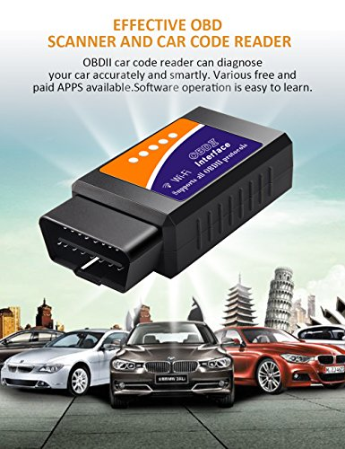 kungfuren OBD2 Scanner, [2018 NEW] Code Reader Car diagnostic Tool Compatible With IOS, Android & Windows Devices Connects Via WiFi For Cars by kungfuren (Image #2)
