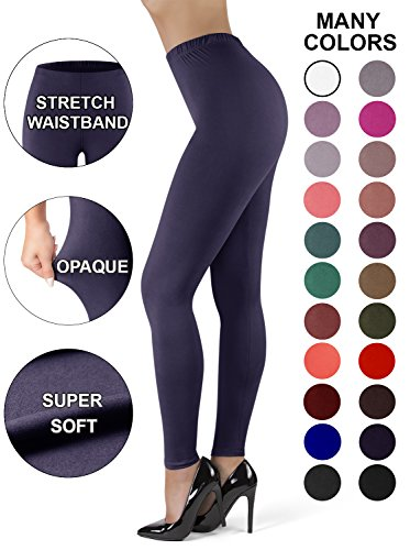 bf7a112324247 Satina High Waisted Leggings for Women | New Full Length + Stretch  Waistband | 22 Colors