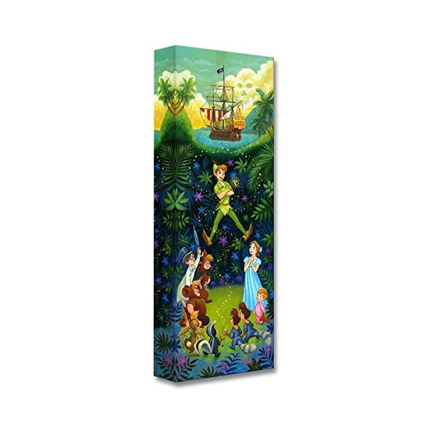 Disney Fine Art The Hero of Neverland by Tim Rogerson Treasures on Canvas Peter Pan...
