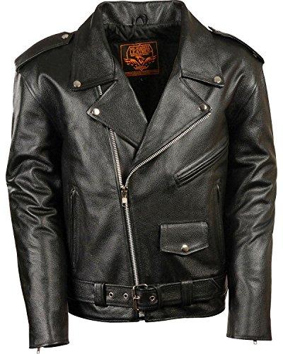 Milwaukee Leather Men's Classic Police Style M/C Jacket Black Large