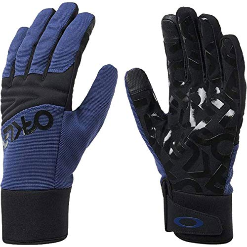 Oakley Factory Park Men's Snowmobile Gloves - Dark Blue/Medium
