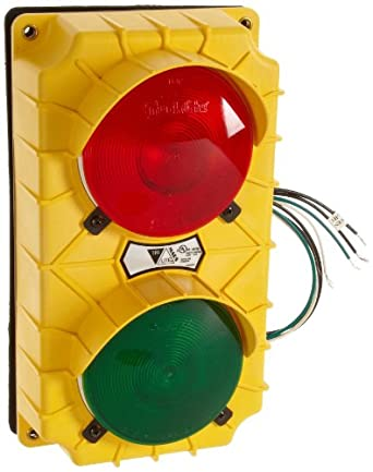 """IRONguard SG10 Incandescent Stop and Go Light Signal System, 6-3/8"""" Width x 11-3/8"""" Height x 3-3/4"""" Depth"""
