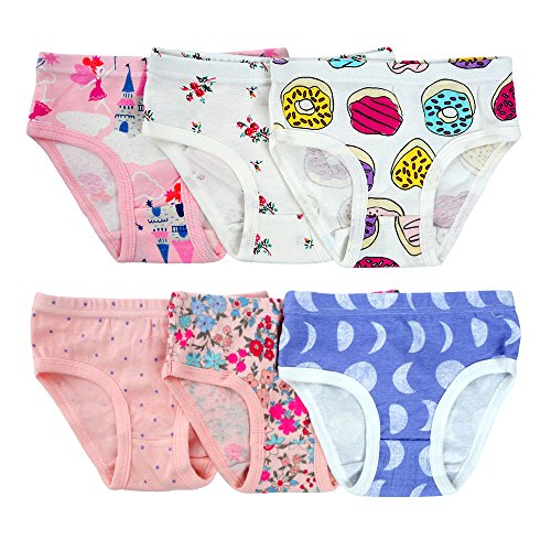 Closecret Kids Series Baby Soft Cotton Panties Little Girls' Assorted Briefs(Pack of 6) (3-4 Years, Style4) by Closecret (Image #2)