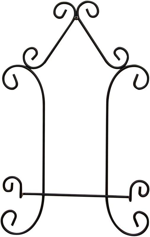vorcool Hierro Platos Soporte de pantalla caballete de decoración de pared para platos imágenes (Negro)