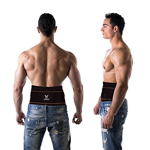 Copper Compression Gear PREMIUM Fit Back Brace / Lower Lumbar Support Belt. Adjustable For Men And Women. COMFORTABLE Copper Infused Back Wrap Perfect for Working Or Playing Sports (Waist 28