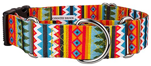 Country Brook Petz 1 1/2 Inch Summer Pines Martingale With Deluxe Buckle - Large