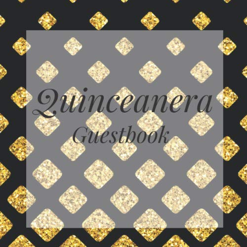 Photo Booth Frame Ideas (Quinceanera Guestbook: Black Gold Gatsby Happy Birthday Event Signing Celebration Guest Visitor Book w/ Photo Space Gift Log - Party Reception Advice ... for Special Sweet Memories - Unique)