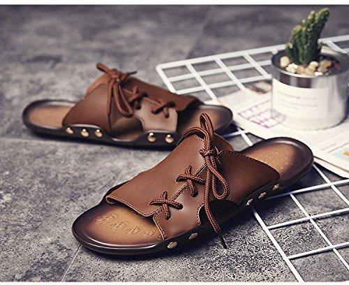 Sommer Sandalen Männer Breathable Trend Schuh Flip Flop Männer Strand Schuh Ultra-Licht Trend Schuh Sandalen, braun1, UK = 8, EU = 42