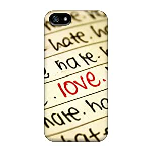 AWU DIYColorful Fashion Fashion Protective Love And Hate Case Cover For Iphone 5/5s