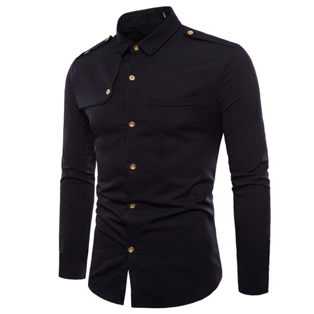 Ximandi Business Long Sleeve Shirts Male Turn-Down Collar Cotton Shirt Slim Fit Designs