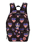 Love Moschino Americana Hearts Canvas Backpack & Wallet, Black Multi