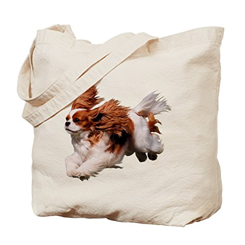 CafePress–Cavalier Running- Blenheim–Gamuza de bolsa de lona bolsa, bolsa de la compra