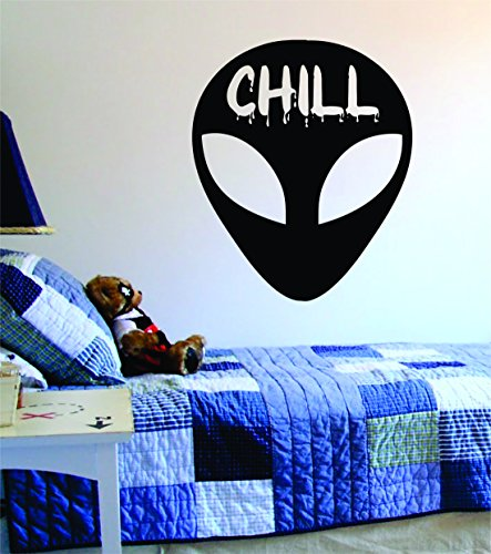 Alien Chill Design Space Sticker product image