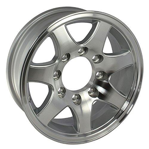 (16 x 6 T02 Aluminum Trailer Wheel 8 on 6.50 Bolt Pattern)