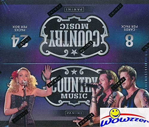2015 Panini Country Music MASSIVE Factory Sealed 24 Pack Retail Box with 192 Cards! Look for Autograph & Memorabilia from the Hottest Names in Country Music! WOWZZER! from Panini