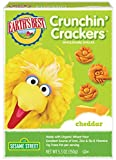 Earth's Best Crunchin' Crackers, Toddler Snacks, Cheddar Cheese, Sesame Street Characters, 5.3 Oz (Pack of 6)