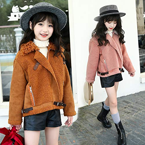 Girls Thick Coat New Korean Childrens Winter Jacket Plus Velvet Little Leather