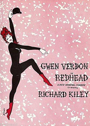 """Gwen Verdon """"REDHEAD"""" Richard Kiley / Bob Fosse 1958 Tryout Souvenir Program"""