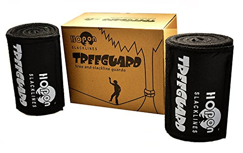 HopOn Slacklines Tree Protector Kit - 2 piece Tree Guards, 40, 51, and 63 - Durable Green or Black Non-Slip Felt Wrap Pads with Velcro for Outdoor Use - Easy Install (63 inch, Black)