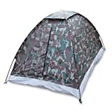 TOMSHOO Camping Tent for 2 Person Single Layer Outdoor Portable Camouflage
