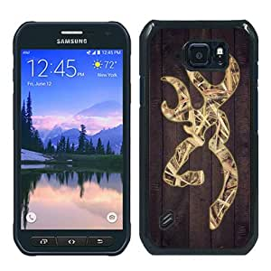 Unique Samsung Galaxy S6 Active Case ,Hot Sale And Popular Designed Case With Camo Browning Logo Black Samsung Galaxy S6 Active Skin Cover Great Quality Phone Case